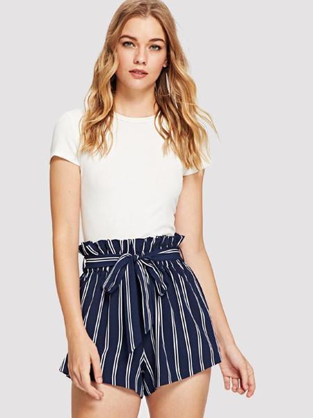Desgaste das mulheres Calças Curtas Sexy Ruffle Folheados Lace Shorts Calças Casuais Calções Quentes 2019 Nova Arrivel Roupas