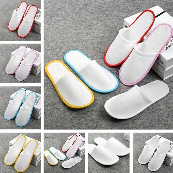 Zapatillas desechables antideslizantes Travel Hotel SPA Inicio Zapatos para huéspedes Varios colores Zapatillas suaves transpirables una vez IB335