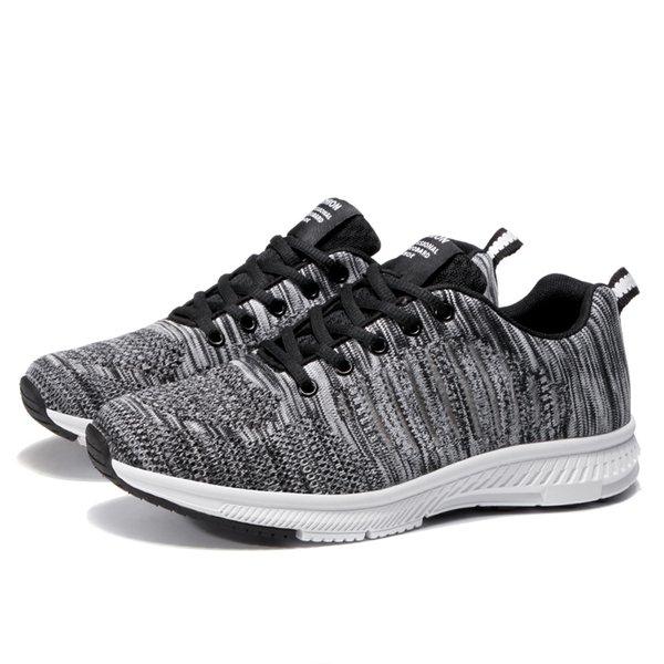 308aaa526c0 Zapatillas de deporte ligeras para hombres, tejidas, deportivas,  transpirables, deportivas, de