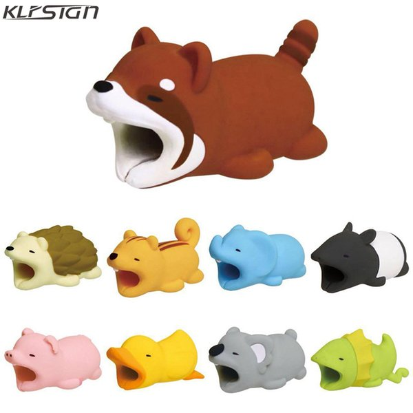 KLFSIGN Cable Bite Animal Bite Cable Saver Protector for iphone Charging Cable Buddies Protection Phone Accessories Cord Protector