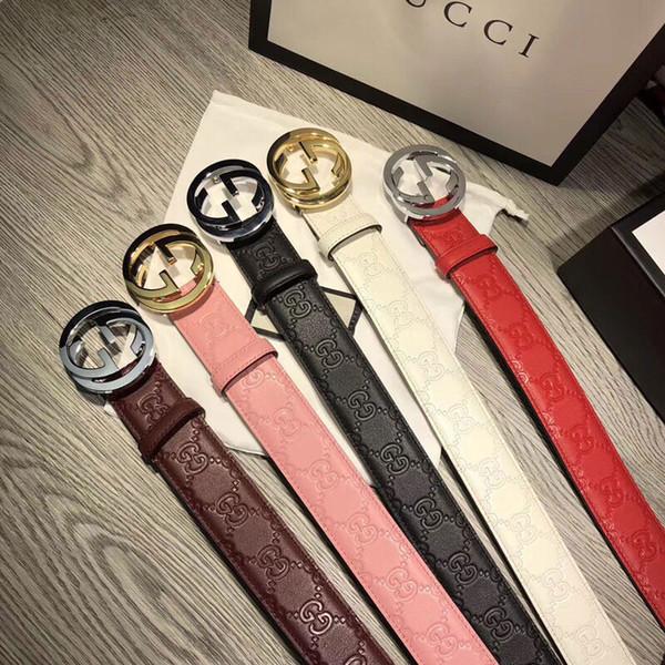 2018 caliente de cuero genuino clásico moda cinturones de alta calidad lisa hebilla de cinturón de cuero cinturón de hebilla cinturones para hombres mujeres ocio G130-78