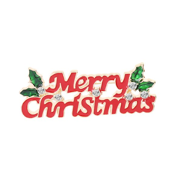 Christmas Lettering.2019 Christmas Theme Brooch Pin Merry Christmas Lettering Red Brooch Best Christmas Gift Accessories For Family And Friends And Lovers From