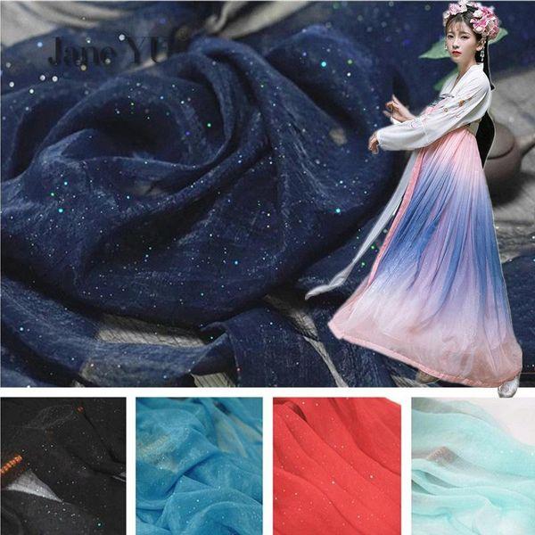 Brocade Wrinkle Bronze Fantasy Gold Multi-color Optional Chiffon Fabrics Han Dress Shirt Fabrics
