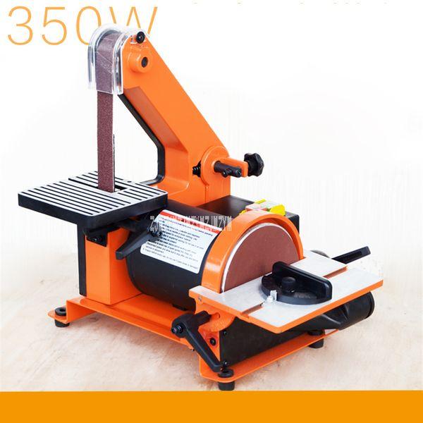 top popular New MM4113 Professional Sanding Belt Machine Vertical Woodworking Metal Belt Sander Sanding Machine 220V 350W 2950r min 762*25mm 2020