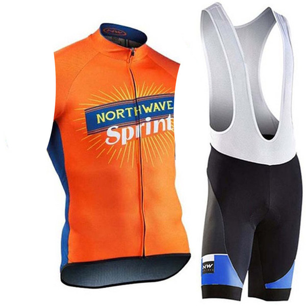 2019 NW Summer Pro Team Men Cycling Jersey Sleeveless Vest Set Maillot Bib Shorts Bicycle Clothes Quick Dry Shirt Clothing Suit