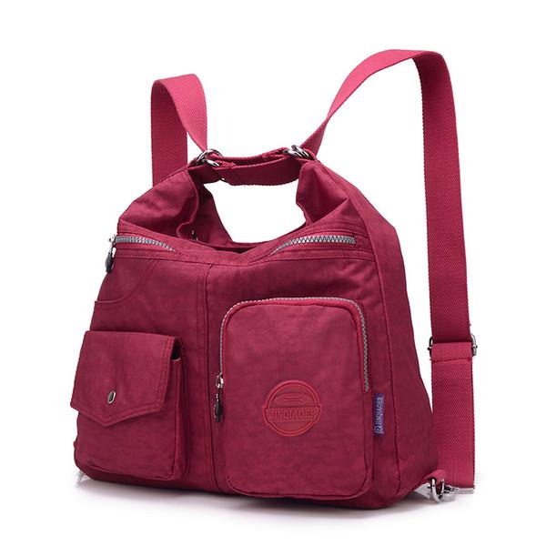 Tiki Tarzı Kadın Naylon Sırt Çantası Doğal Genç Için Okul Çantaları Rahat Kadın Omuz Çantaları Mochila Seyahat Bookbag Sırt Çantası T190915