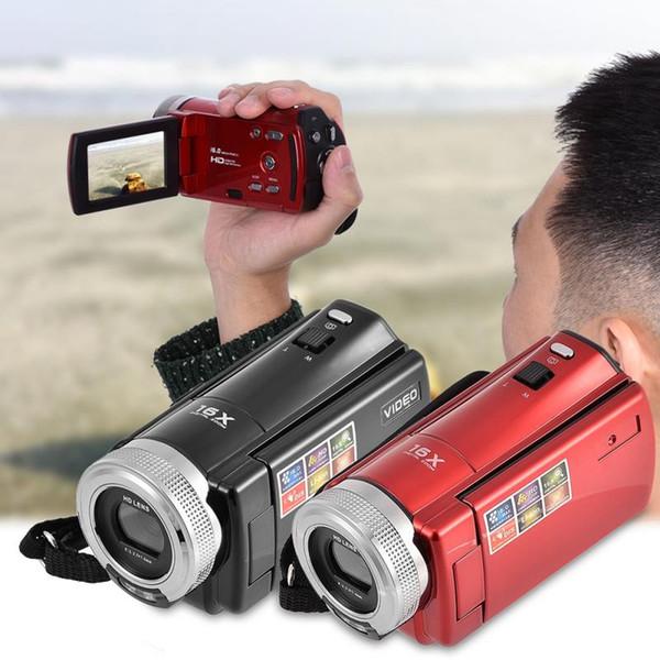 Elegante cámara mini 16MP 2.7 pulgadas TFT LCD Pantalla HD 720P Cámara digital 16X Zoom DC Videocámara Video DV Enchufe