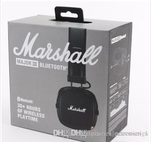 Amazing chaud vendre MARSHALL majeur III casque marque de mode écouteur sans fil bluetooth mic pour téléphone mobile Android avec logo