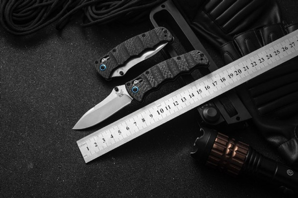 High-end carbon fiber handle Advanced folding knife Bench BM made 484S-1 M390 blade Complete packing 1pc.