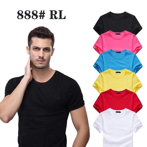 2019 Nueva Ralp Laure Camiseta de manga corta con cuello redondo para hombre Muchos colores 888 # Camisetas para hombre Polos S-6XL