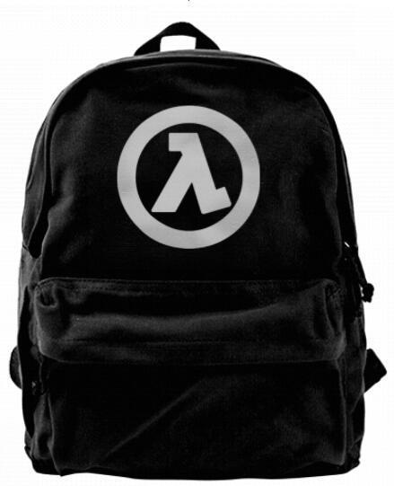 Half Symbol Life Fashion Canvas designer backpack For Men & Women Teens College Travel Daypack Leisure bag Black