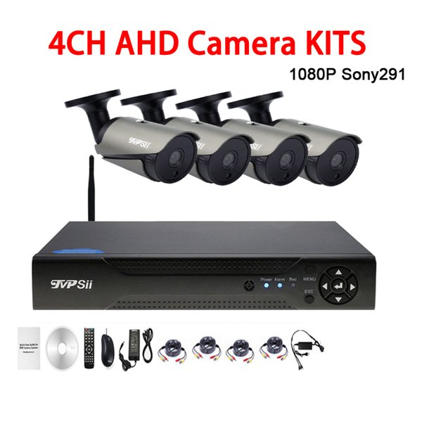 36pcs infrared Led 2mp 1080P Sony291 Waterproof 4CH 4 Channel WIFI AHD CCTV Surveillance Camera DVR Kits FreeShipping