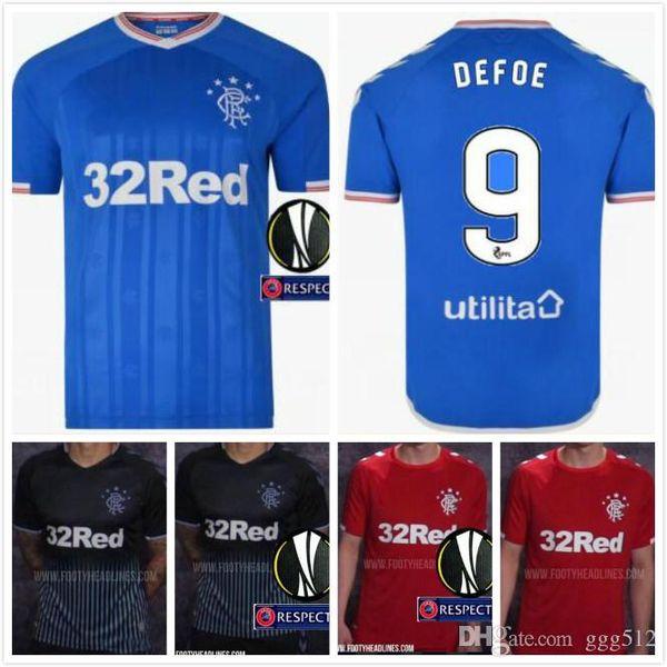 2019 2020 Glasgow Rangers Futbol Forması 20 Morelos 11 Windass 10 Dorrans Candeias Tavernier Pena Özel Ev Deplasman 19 20 Futbol Gömlek