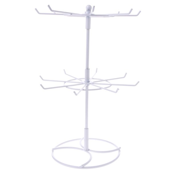 Metal Necklace Bracelet Chain Rotation Hanging Jewelry Display Rack Stand Holder