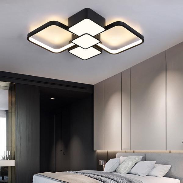 Sala Pequeña Del Moderno Compre Blanco La Iluminación Cuadrada De Lámpara Estar LED Para Y De Accesorio Lámpara Dormitorio Negro La Cocina Balcón De X8nOk0wP
