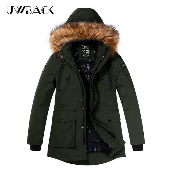 2019 Herren Winterjacke Herren Dick Lässige Outwear Jacken Herren Pelzkragen Winddicht Parkas Plus Size Samt Warmer Mantel DA001