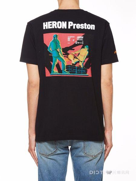 2019SS TOP Summer High Quality Hip-hop Heron Printed Men Women Retro Cast Pattern printing Embroidery Short Sleeve T shirt tee