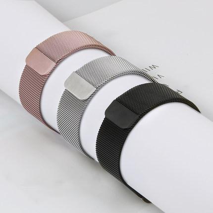 Milanese Loop Band para Apple Watch 38 42mm Serie 1 2 3 Correa de correa de acero inoxidable Reloj de pulsera de metal Reemplazo de pulsera