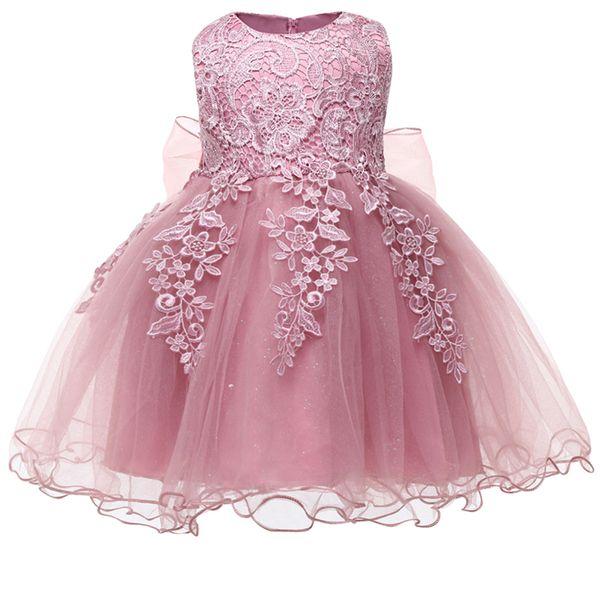 Compre Vestido De Bautizo Recién Nacido Para Niña 2018 Infantil Ropa Vestido De Princesa De Boda 2 1 Años Primer Cumpleaños Vestido De Fiesta Para