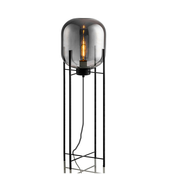 2019 Nordic Postmodern Floor Lamp Smoke Gray Glass Four Lamps Bedroom  Tripod Living Room Study Decoration Lamps E27 Bedside Lamp From Rangcy2008,  ...