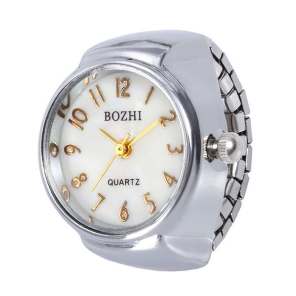 Hot 2019 Neue Ankunft Luxus ial Quarz Analoge Uhr Kreative Stahl Cool Elastic Quarz Finger Ring Uhr