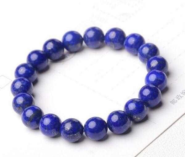 ENVÍO GRATIS + Natural 2A grado lapislázuli solo anillo cadena cadena, adornos de cristal hembra, flor de durazno, guardia