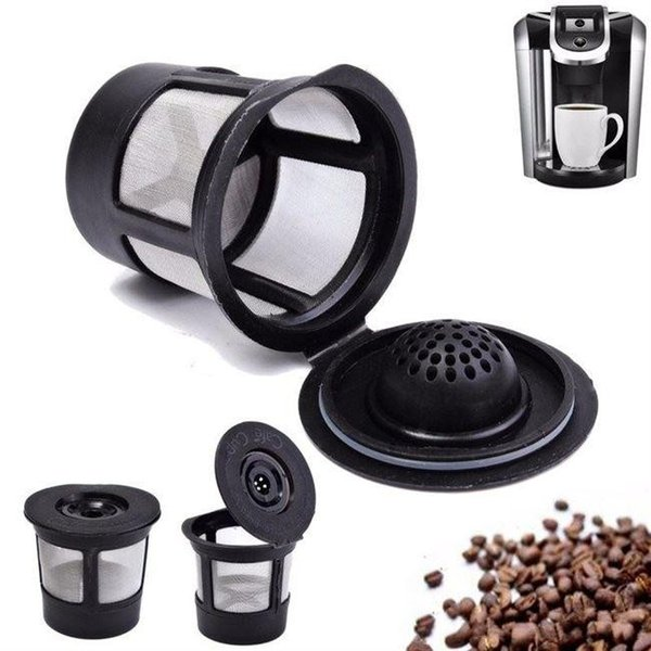 3pcs/set Reusable Refillable Coffee Filter Basket K-Cups for Keurig 1.0 Stainless Steel Mesh Compatible Pod System