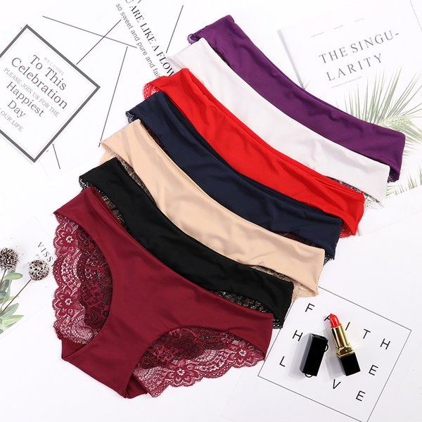 2019 New Arrival Women's Lace Panties Seamless Panty Briefs High Quality Fashion Cotton Low Waist Underwear Intimates Drop Ship C19041502