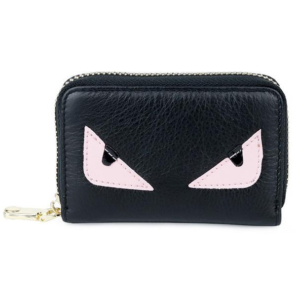 Belle2019 Layer Head in pelle di vacchetta Cartoon Monster Card Set Zipper Wallet Small Change Package