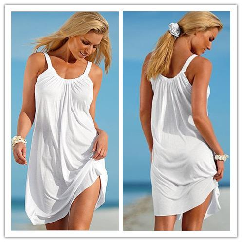 European and American foreign trade explosive fat MM large size women's loose Sling Dress