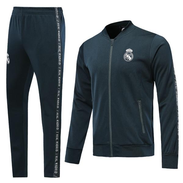 19 20 real madrid soccer tracksuit HAZARD JOVIC MILITAO survêtement de football 2019 2020 VINICIUS ASENSIO training suit jacket sets