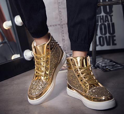 Frühling Herbst Herren Damen Stiefel Casual Martin Schuhe Männer Mode männlich Bling Rivet Stiefel Trendy Outdoor Leder Größe 36-44