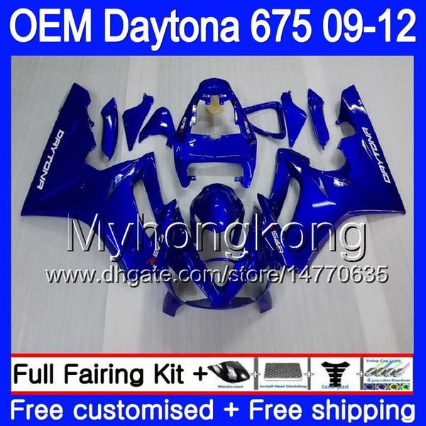 Injection For Triumph glossy blue Daytona 675 09 10 11 12 Bodywork 323HM.8 Daytona-675 Daytona675 Daytona 675 2009 2010 2011 2012 Fairing