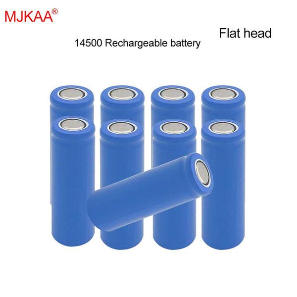 50 PCS preço de fábrica MJKAA 100% Genuine 1200mAh 14500 Lithium Ion 3.7V AA Tamanho bateria recarregável para Mobile Power Lanterna de Cabeça Chata