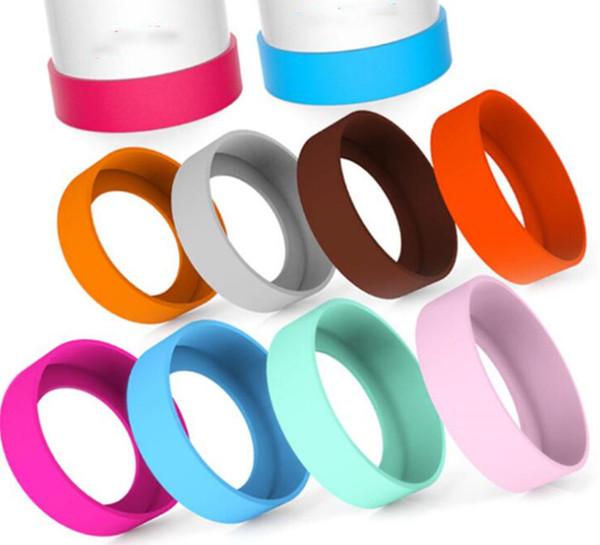 coperchio manica in silicone per tazze d'acqua protezione inferiore 7-8cm multi colori coprimoto per tazze TC190507 200 pezzi