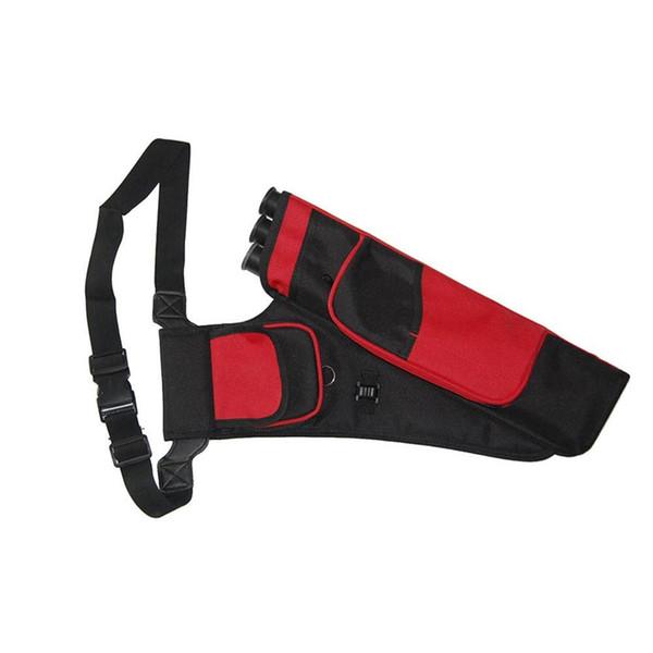 Bolsa de caza de caza Mounchain 3-Tubos Cintura trémula colgado Arco Flecha Bolsa de tiro con arco con bolsillos Accesorios de tiro con arco al aire libre # 791925