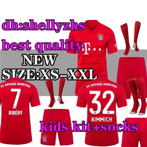 separation shoes e1c1a 4816f 2019 Kids 19 20 Bayern Munich Soccer Jersey Home Red Kids Kit With Socks  19/20 RIBERY#7 LEWANDOWSKI ROBBEN JAMES Müller Football Jerseys Child From  ...