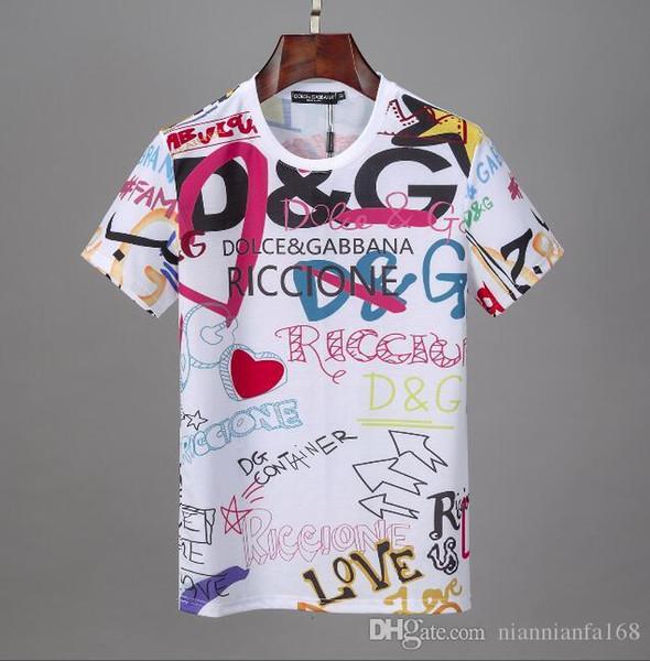 mens için Avrupa Paris New D + G Tasarımcılar moda Yaz Sokak tişörtleri 5A + Yüksek Kalite kısa kollu tshits Kazak Tee giysiler 53 kadın giyim