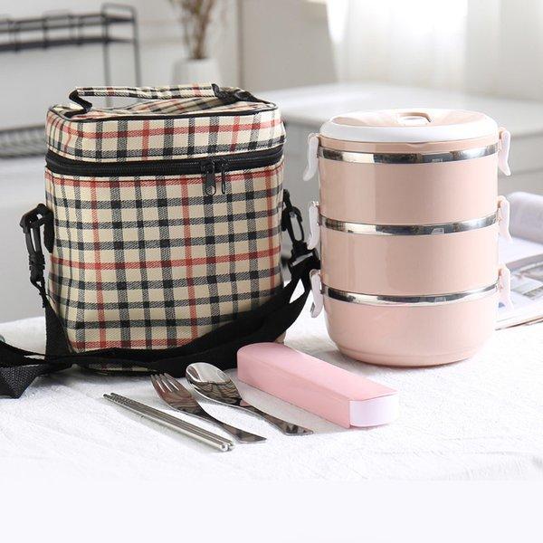 Pink 3 Layer And Bag