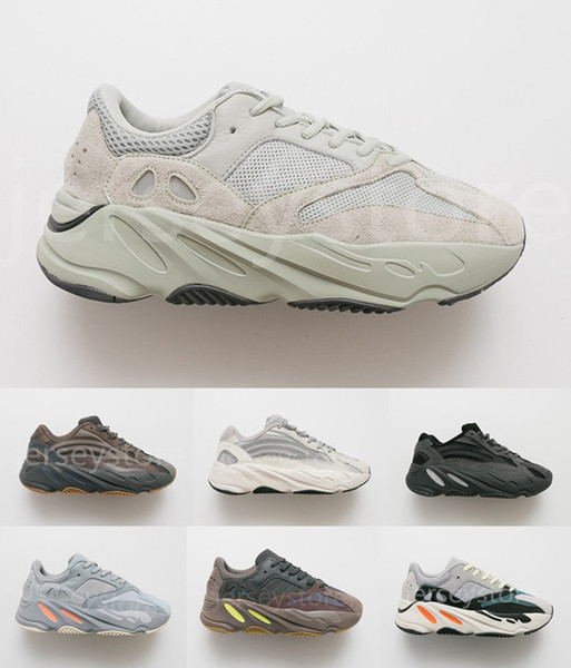 Adidas YEEZY 700 V2 Designer Sports 700 Salt Geode Wave Runner Inertia Mauve Kanye West Wave Static Mens scarpe da corsa da donna Nero Blu Grigio Athletics Sneaker