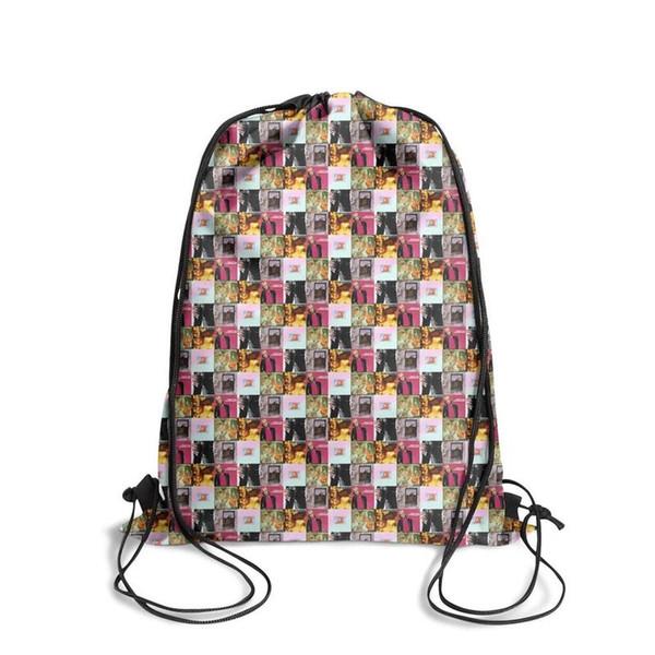 Спортивный рюкзак на шнуровке Том Петти популярный регулируемый школьный рюкзак для путешествий