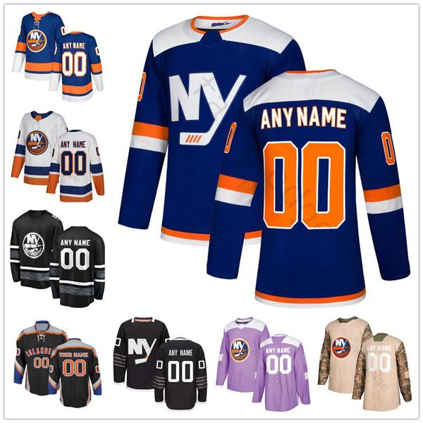 Custom New York Islanders # 3 Adam Pelech 27 Anders Lee 16 Andrew Ladd 56 Tanner Fritz 1 Thomas Greiss Uomo Donna Bambini Youth Hockey Jersey