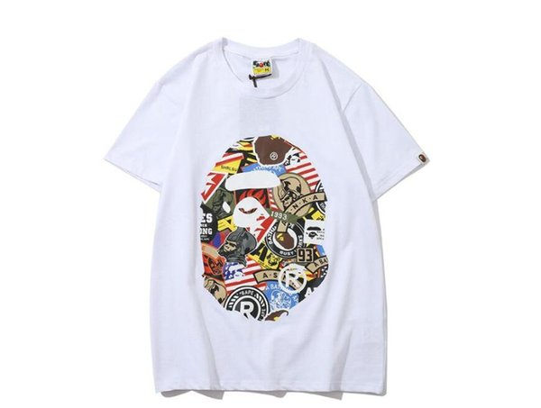 Summer New Lover\'s Cartoon Graffiti Print Short Sleeve T-Shirts Men Women Round Neck Casual T-Shirts Free Shipping