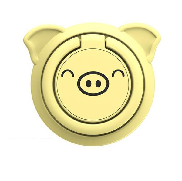 NEW Cute pig ultra-thin mobile phone ring buckle bracket magnetic car phone holder FOR: IPHONE Samsung Huawei OPPO and other mobile phones