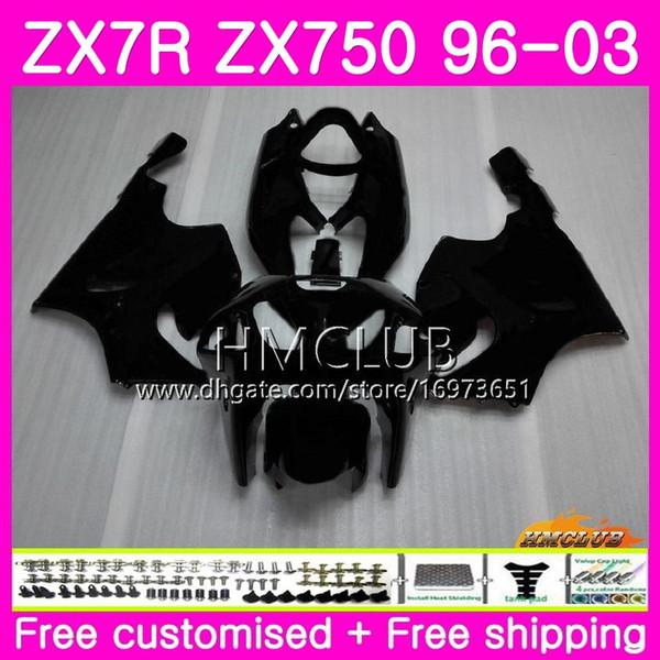 ZX-7R For KAWASAKI NINJA ZX750 ZX 750 7R 96 97 98 99 00 01 02 03 46HM7 ZX7R 1996 1997 1998 1999 2000 2001 2002 2003 Fairing New Matte black