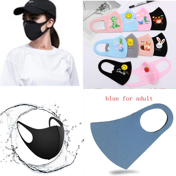 50pcs kids masks disposable face mask 3 layer earloop dust mouth masks cover 3ply non-woven disposable dust mask soft breathable kn 95