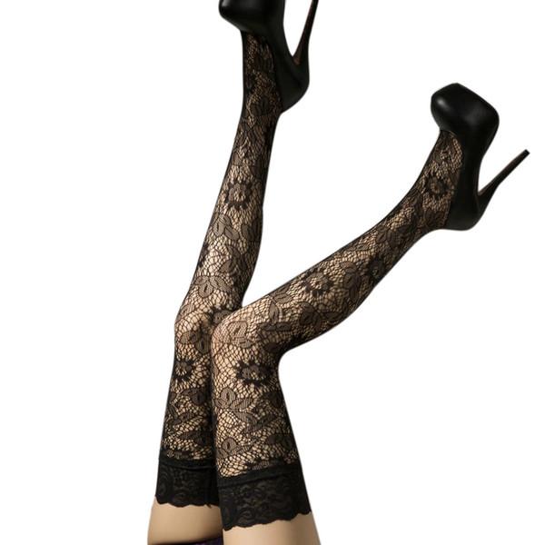 Mulheres Sexy Net Meias de Alta bas lingerie Sexy para as mulheres Meias sexy feminino erótico transparente meias grandes tamanhos # N