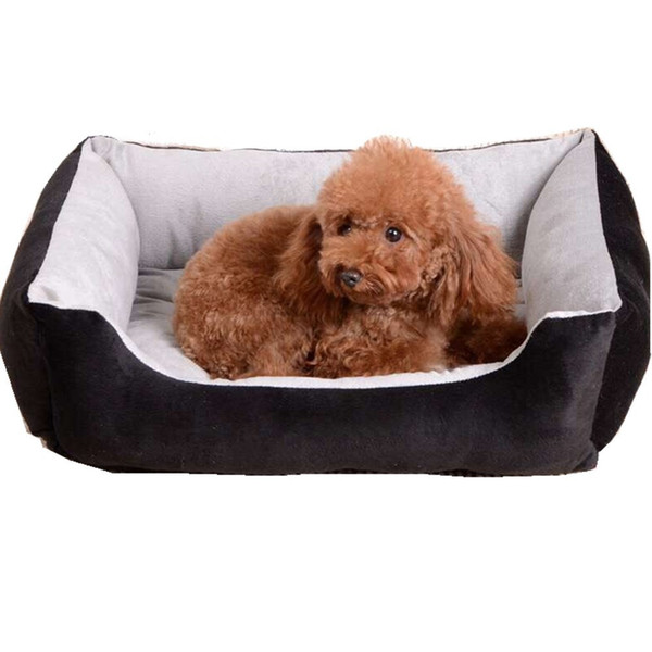 top popular 45x30cm Soft Cotton Pet Mat Cushion Waterproof Puppy Dog Cat Sleeping Bed Kennel Mat Washable Plush Cozy Nest Comfortable Pet Supplies 2020