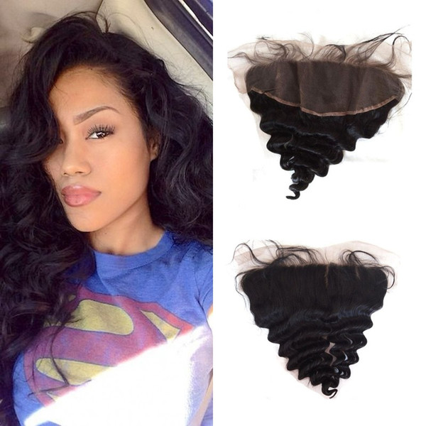 Best Selling Products 13x4 Lace Frontal Closure With Baby Hair Loose Wave Free Middle Part No Tangle No Shedding FDshine