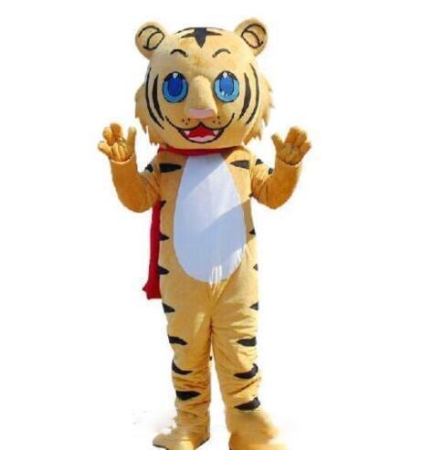 2018 de Alta calidad caliente Adulto Lindo MARCA de Dibujos Animados Nuevo Profesional de felpa Amarillo Tigre Traje de la Mascota de Disfraces